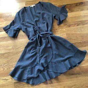 SOLD GRADE & GATHER Waterfall Wrap Dress